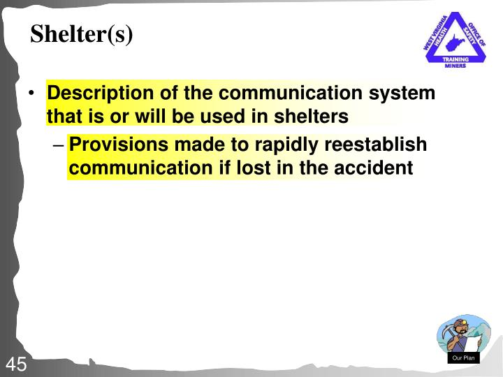 Shelter(s)