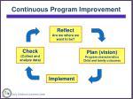 continuous program improvement