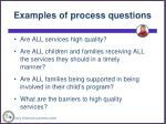 examples of process questions