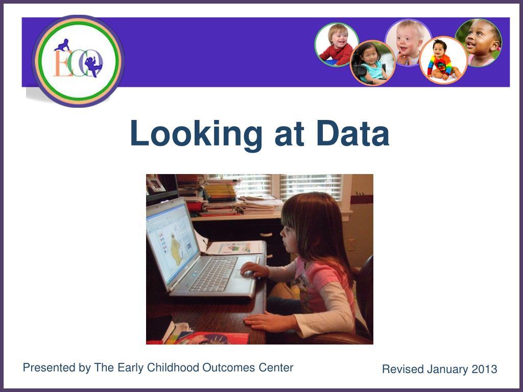 looking at data l.