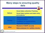 many steps to ensuring quality data