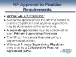 np approval to practice requirements36