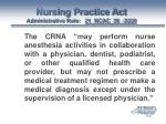 nursing practice act administrative rule 21 ncac 36 0226