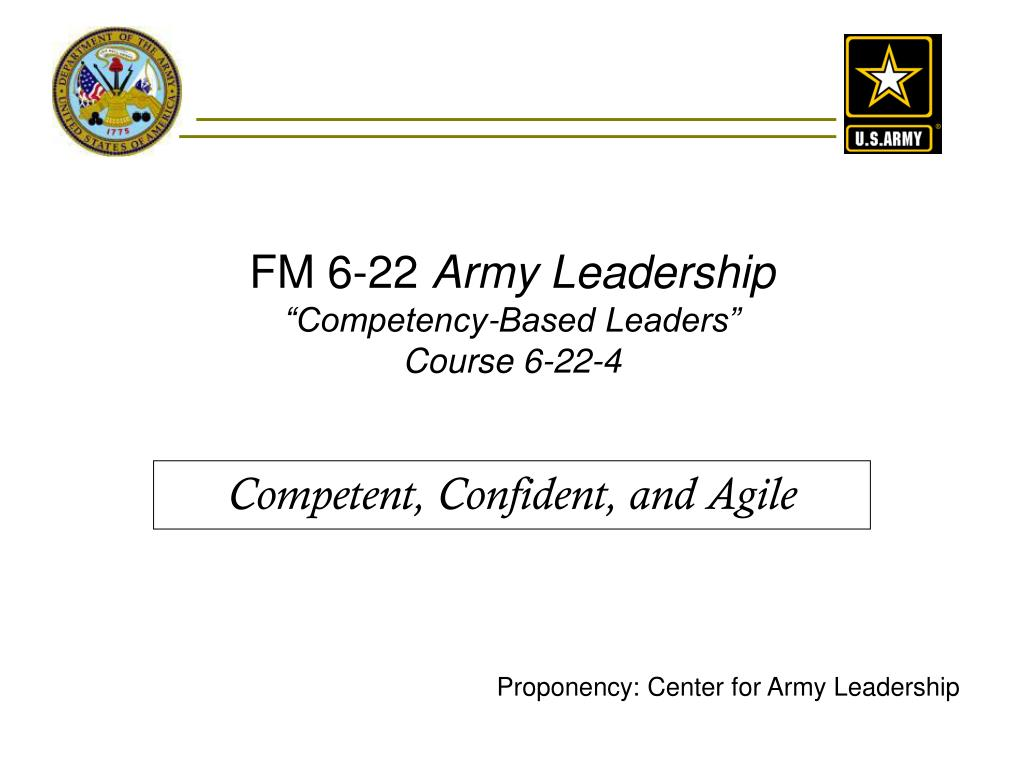 fm 6 22 army leadership competency based leaders course 6 22 4 l.