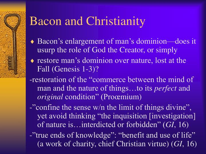 Bacon and Christianity