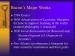 bacon s major works