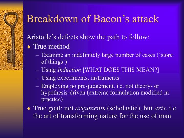 Breakdown of Bacon's attack