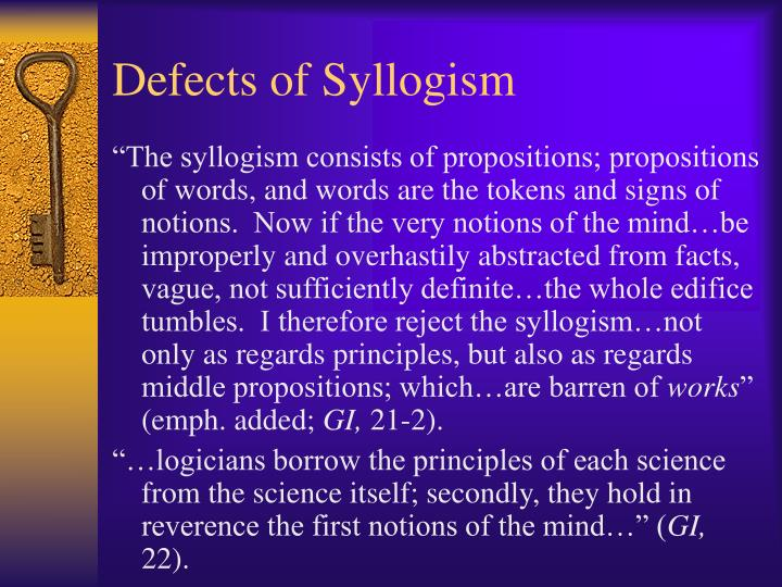 Defects of Syllogism