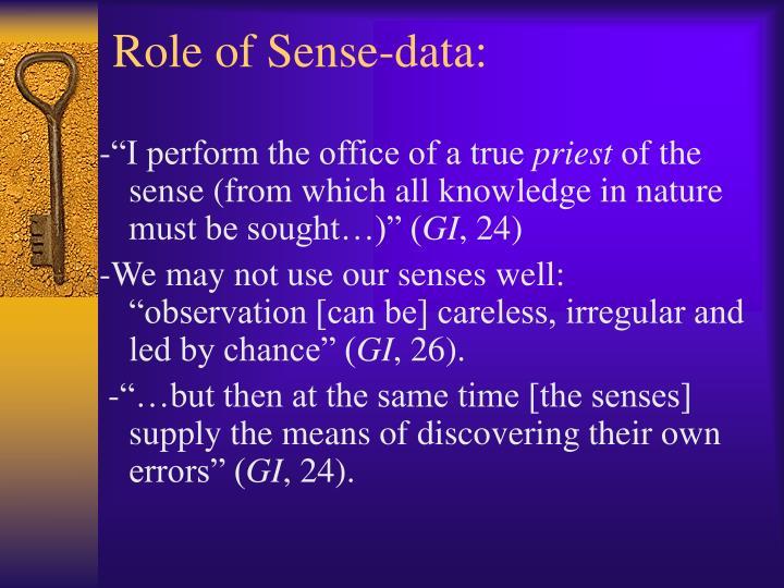 Role of Sense-data:
