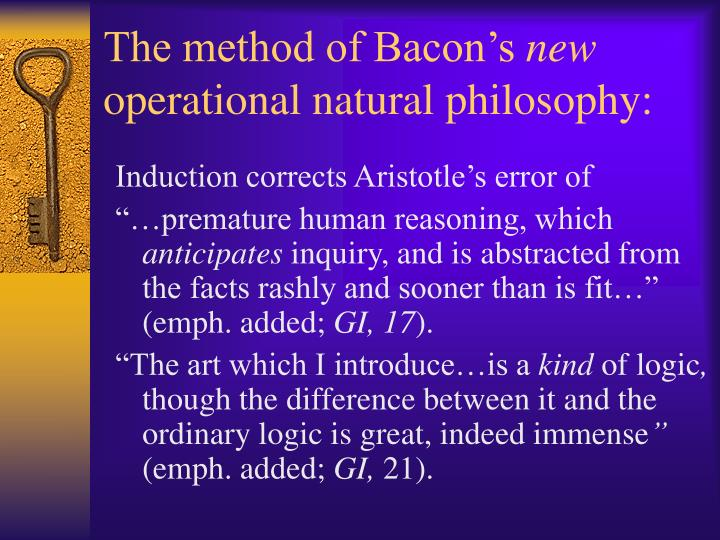 The method of Bacon's