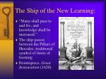 the ship of the new learning