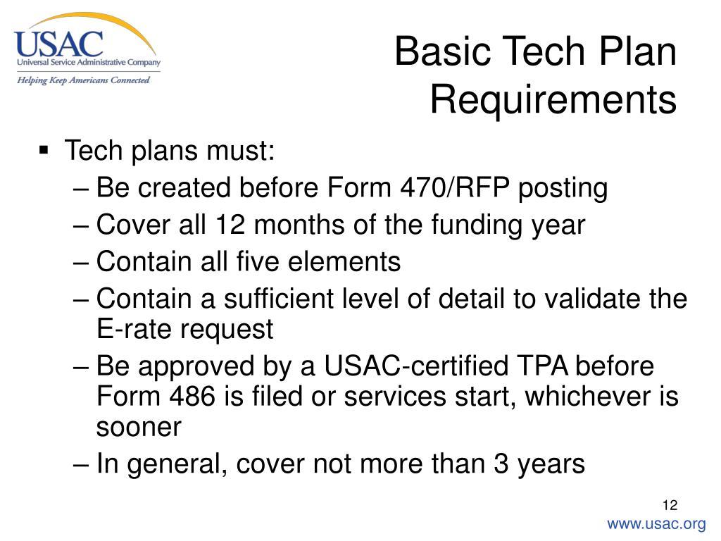 Basic Tech Plan