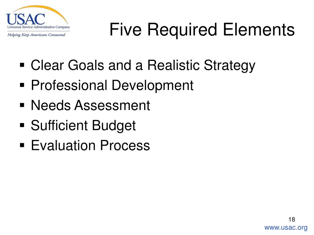 Five Required Elements