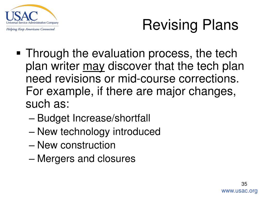 Revising Plans
