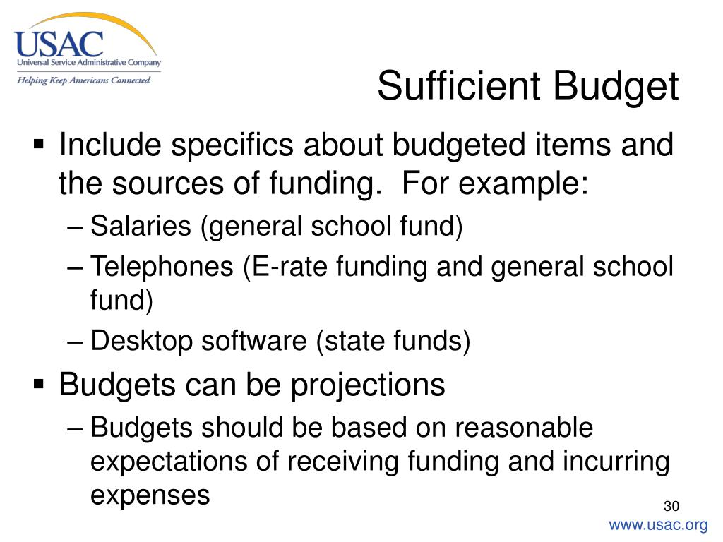 Sufficient Budget