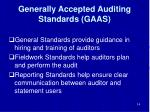 generally accepted auditing standards gaas