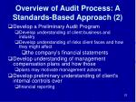 overview of audit process a standards based approach 2