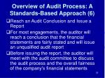 overview of audit process a standards based approach 6