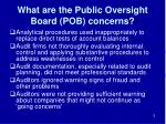 what are the public oversight board pob concerns