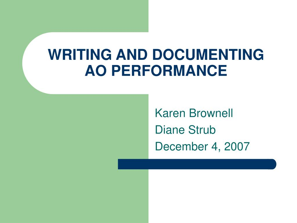 WRITING AND DOCUMENTING