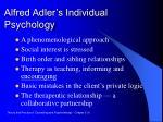 alfred adler s individual psychology