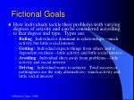 fictional goals