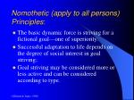nomothetic apply to all persons principles