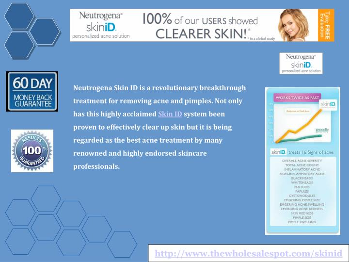 Neutrogena Skin ID is a revolutionary breakthrough treatment for removing acne and pimples. Not only...
