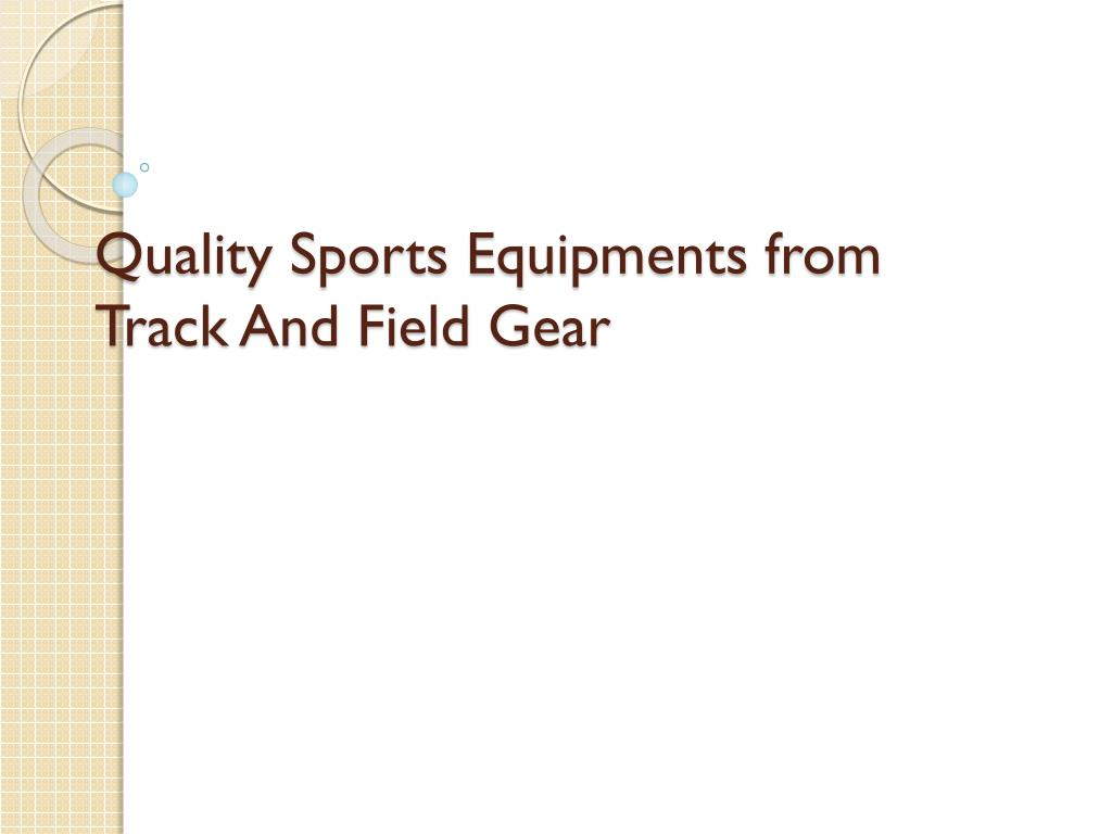 quality sports equipments from track and field gear l.
