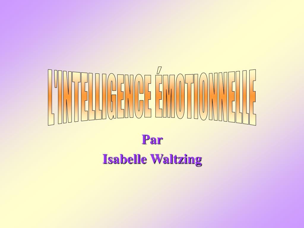 par isabelle waltzing l.