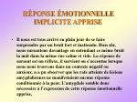 r ponse motionnelle implicite apprise78