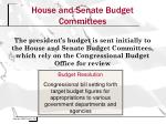 house and senate budget committees