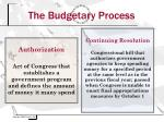 the budgetary process6