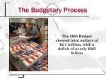 the budgetary process9