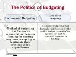 the politics of budgeting
