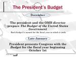 the president s budget