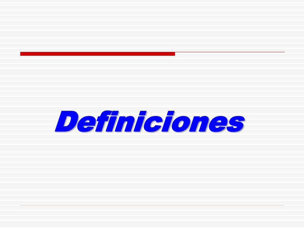 definiciones l.