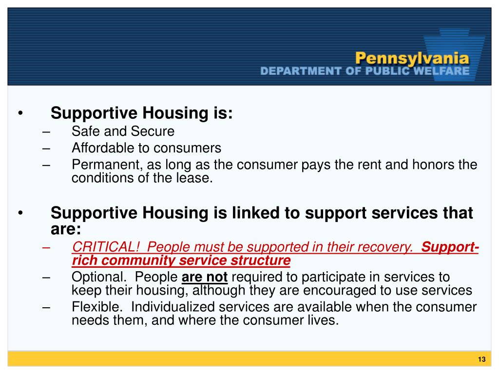 Supportive Housing is: