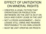 effect of unitization on mineral rights