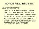 notice requirements57