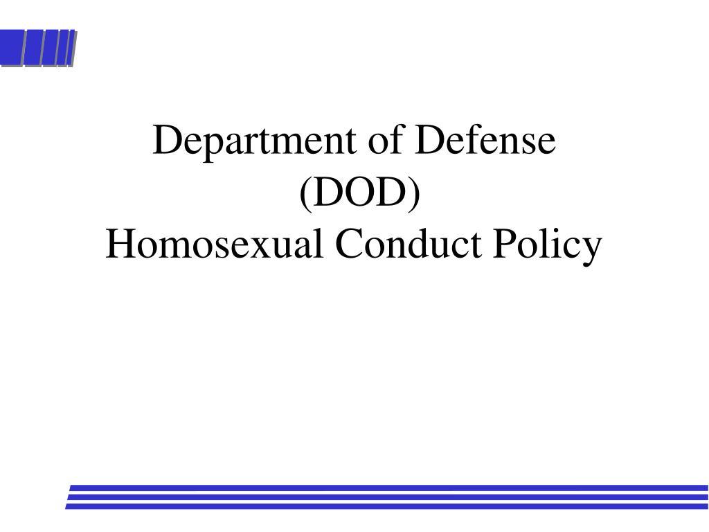 department of defense dod homosexual conduct policy l.
