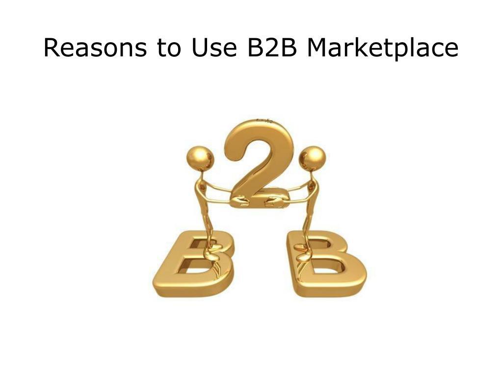 reasons to use b2b marketplace l.