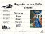 anglo saxon and middle english