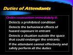 duties of attendants28