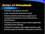 duties of attendants29