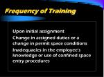 frequency of training