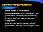 general requirements16