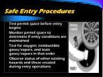 safe entry procedures40
