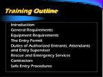 training outline