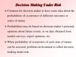decision making under risk42